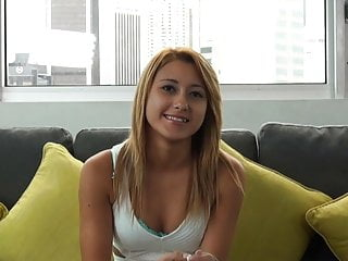 Casting Couch X Blonde Gymnast Gets Flexible On Cam