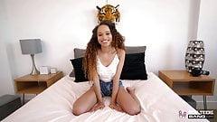 Real Teens - Petite Ebony Teen Cecilia Lion Fucked