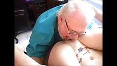 Doc licks patient's pussy