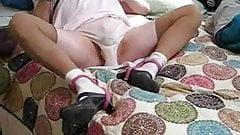 Sissie spreads pink panties