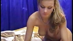 Sexy Blonde Anal Vibrator