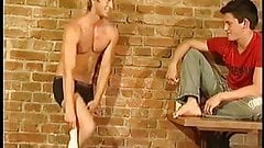 Two golden boys fucking and sucking and cumming
