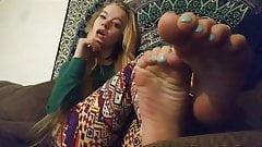 Cute Teen Teases Her POV Feet