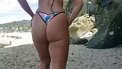 fat ass in little thong