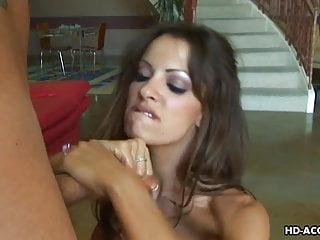 Preview 5 of Super hot brunette pornstar jerking the fat erect dick