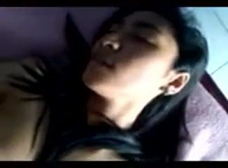 Asian malay slut having fun with cock deep in her tight cunt