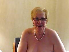 Aunt Sue dresses in bridal underwear