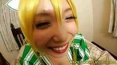 Japanese cosplay cutie as leafa in pov action