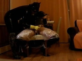 Preview 5 of intense P.O.T. femdom handjob private sesion with breathplay