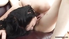 Demida and friend swallow a very lucky guy