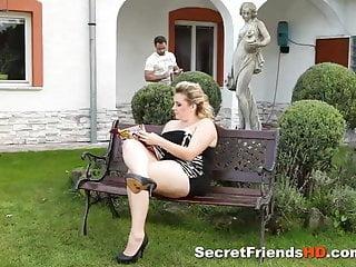 Sexy Bbw Enjoys the Hard Cock of Gardener