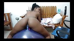 Bouncy Dildo Ball Ride