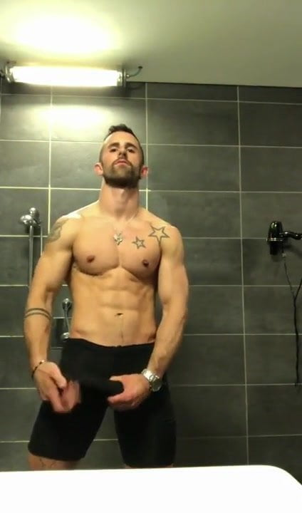 gay muscle porn clip: Getting Off in the Bathroom, on hotmusclefucker.com
