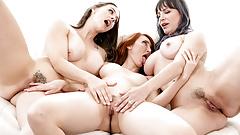 MILF Neighbours Having Lesbian Threesome Sex
