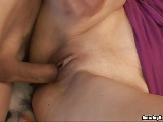 Cute Teen Brunette Getting Rammed By An Old Dude