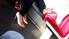 Candid feet in train 1.