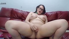Loud moaning young BBC lover Scarlette squirting pussy