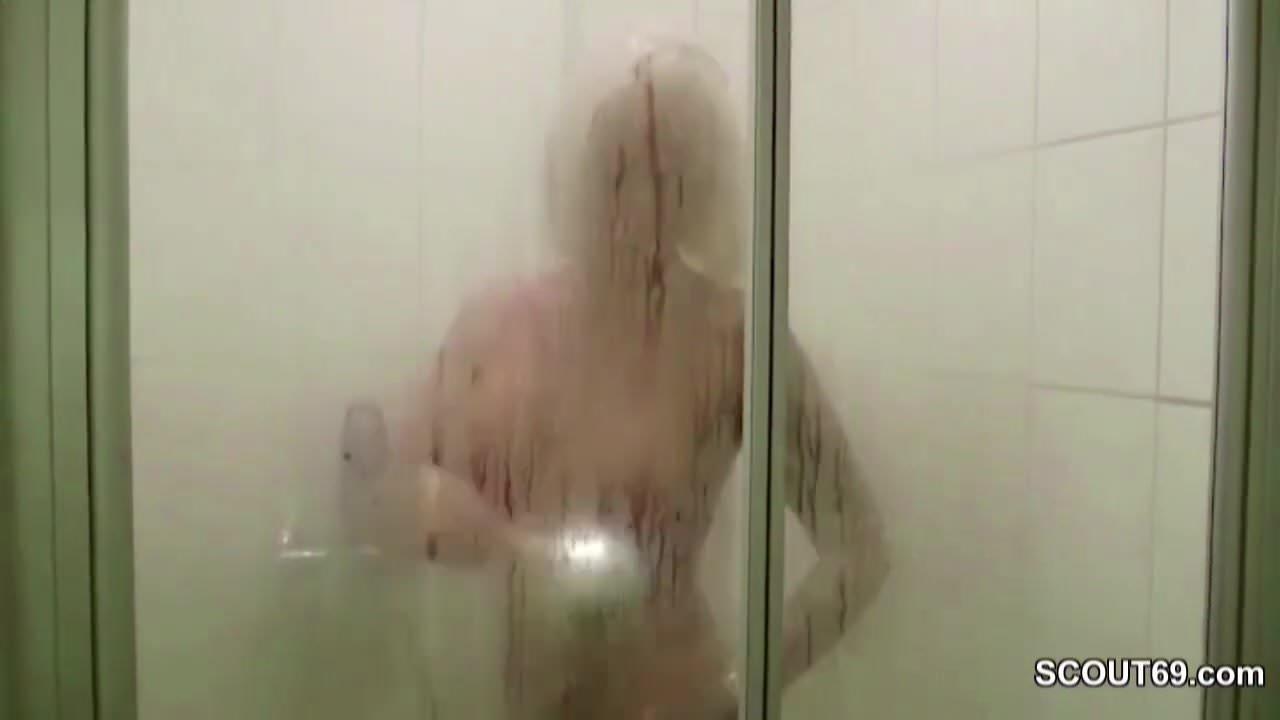 milf caught in shower
