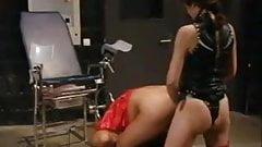 Domme sissy gets big strapon