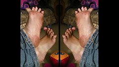 Irene's STINKY soles CUMMED 2!