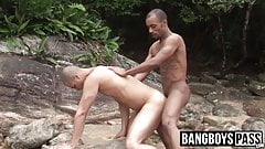 Big cocked black studs passionately bareback outdoor