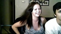 Girl show tits for friends on chatroulette