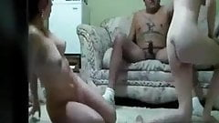 Lucky Dude Fucks With Two Girls