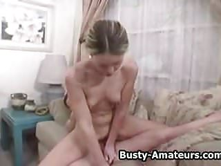 Busty amateur Sunny and Holly on lesbian action