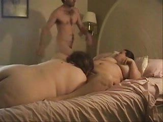 2 guys one girl threesomes - 2 bbws take on one guy