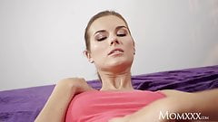 MOM Jenifer Jane taught pussy licking by stepmom