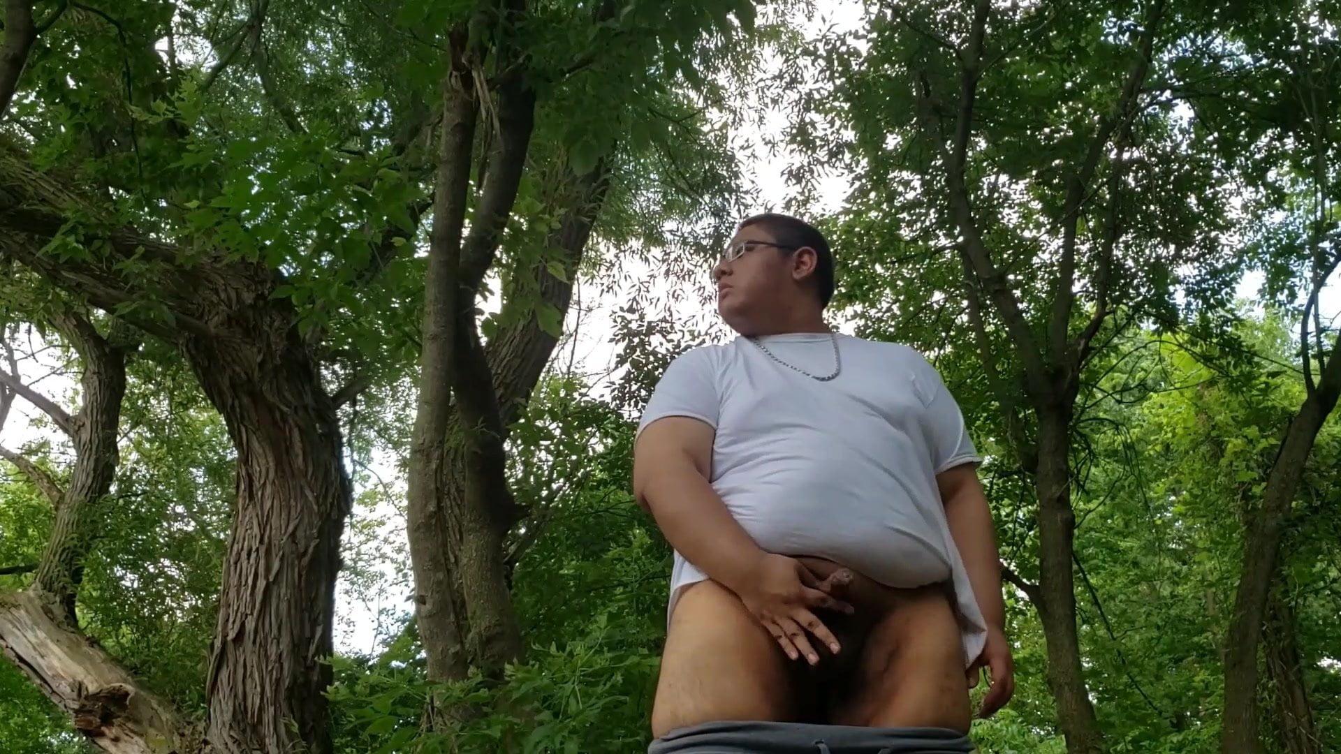 enjoying within the woods
