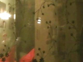 Spying through the window nice blonde big tits