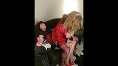 Angelique fucked on the sofa by Madame C