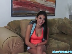 Latina teen doggystyled over old guys walker