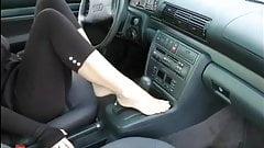 barefoot fetish leggins tease (wheelsex)