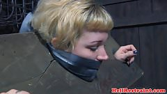 Tiedup submissive tormented with big toys