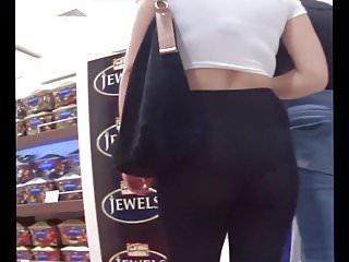 Teen in see through leggings (cheetah print panties)