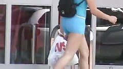 Candid Ass in short tight shorts 2