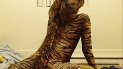 Tiger boy cumming hard