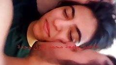 Kissing an Arab lady