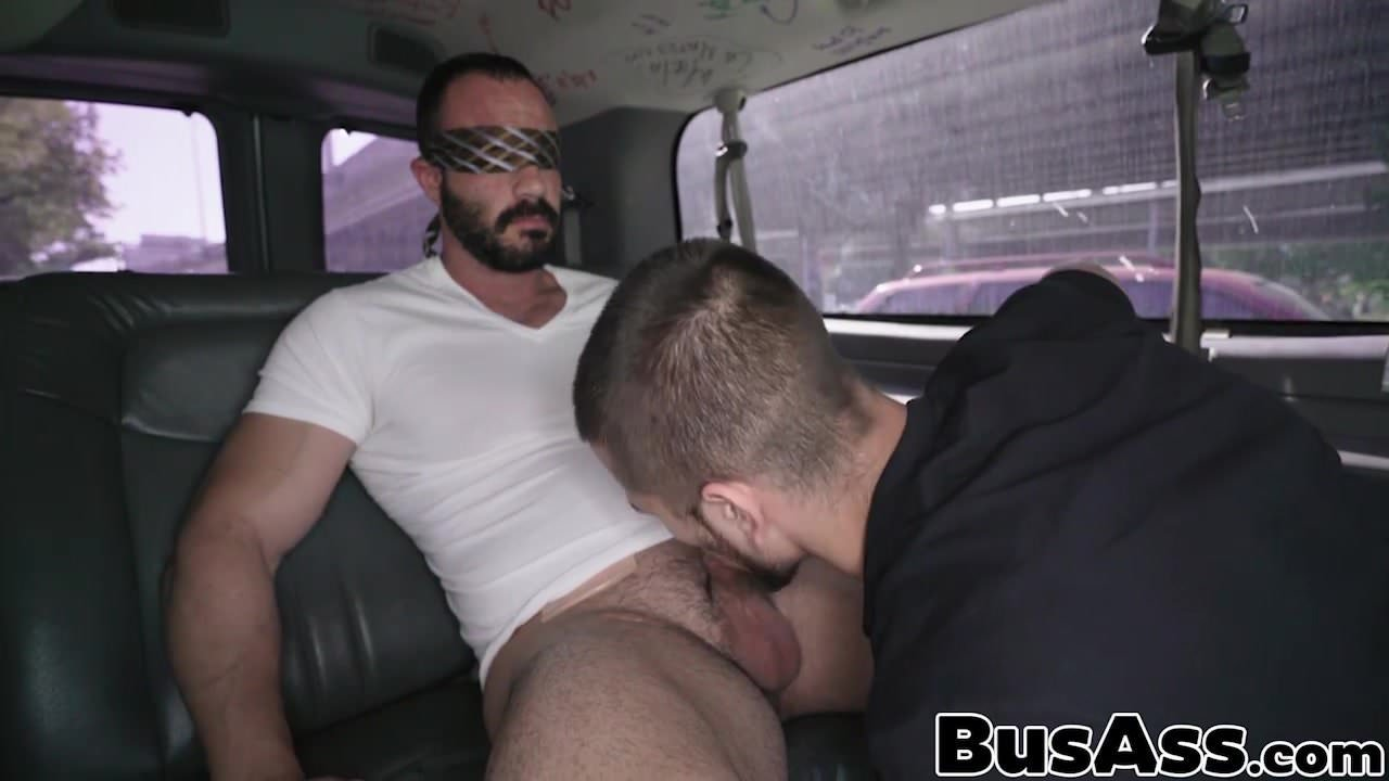 Bait Bus Gay Porn buffed straight hunk gets tricked in a min van