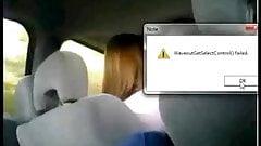 he is hard while she driving hahaha