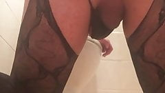 sissy fag with fat ass playing with his asshole