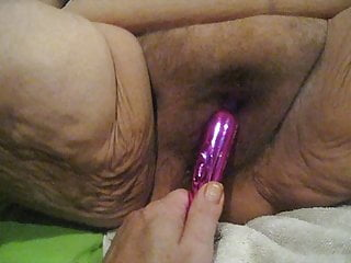 hubby using a toy on me