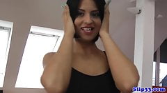 Doggystyled teen creampied by lucky senior