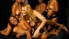 Blonde hottie banged by asian lesbians