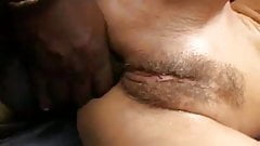 Mandy fucked by 2 big black cocks
