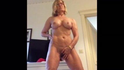 Nude cute brunette