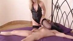british misstress in stockings rides to creampie