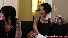 BBC loving goth slut gets pussyfucked